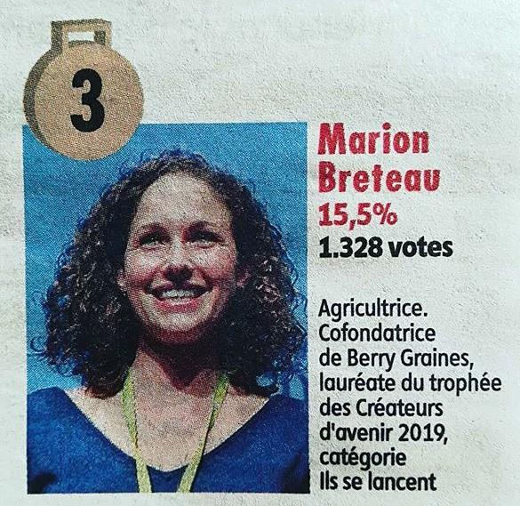 Marion Breteau qui apparaît dans un article.